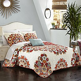 Chic Home Demesne 4-Piece Reversible Quilt Set