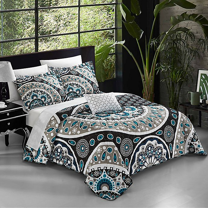 Alternate image 1 for Chic Home Jalon 8-Piece Reversible Quilt Set