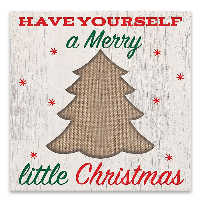 Have Yourself A Merry Little Christmas.Have Yourself A Merry Little Christmas Wood Wall Art Bed