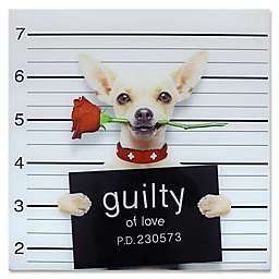 Moe's Home Collection 24-Inch Square Guilty Chihuahua Wall Art
