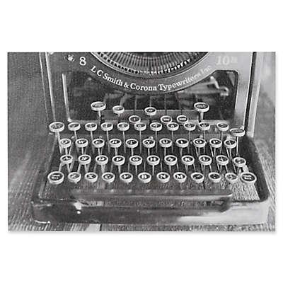 INK+IVY Vintage Typewriter 30-Inch x 20-Inch Canvas Wall Art