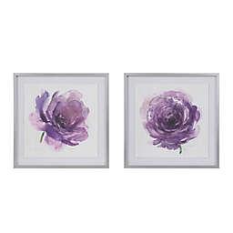 Madison Park® Signature Purple Ladies Rose Framed Wall Art (Set of 2)
