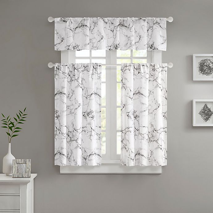 Alternate image 1 for Marble Valance and Window Curtain Collection