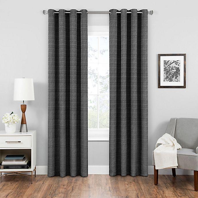 Alternate image 1 for Eclipse Trevi 84-Inch Grommet Top Room Darkening Window Curtain Panel in Black