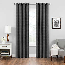 Eclipse Trevi 95-Inch Grommet Top Room Darkening Window Curtain Panel in Black