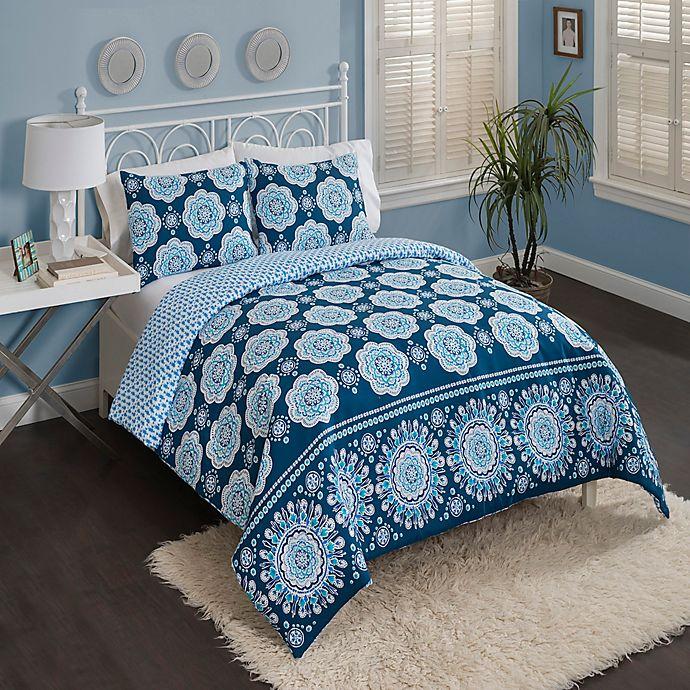 Vue® Karma Love 2 Piece Reversible Twin XL Comforter Set in Blue