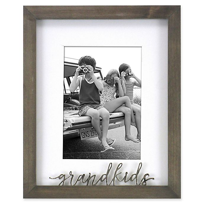Alternate image 1 for Rustic Gallery Grandkids 5-Inch x 7-Inch Wood Picture Frame in Grey
