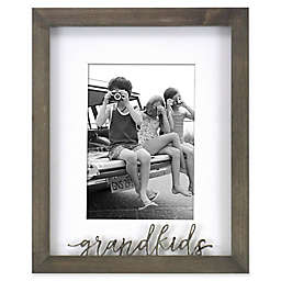 Rustic Gallery Grandkids 5-Inch x 7-Inch Wood Picture Frame in Grey