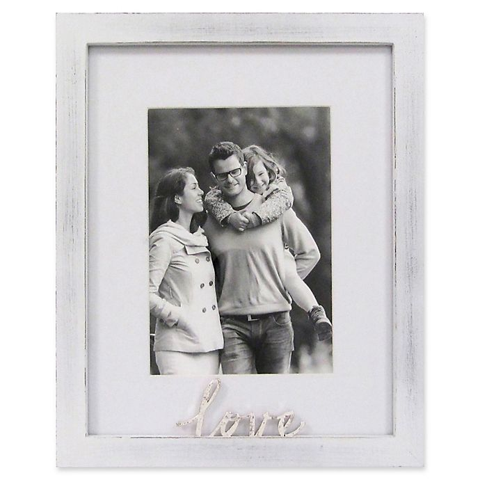Alternate image 1 for Rustic Gallery Love 5-Inch x 7-Inch Wood Picture Frame in White
