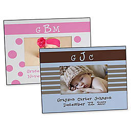 Monogram Baby 4-Inch x 6-Inch Picture Frame