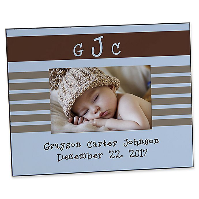 Alternate image 1 for Monogram Baby 4-Inch x 6-Inch Picture Frame