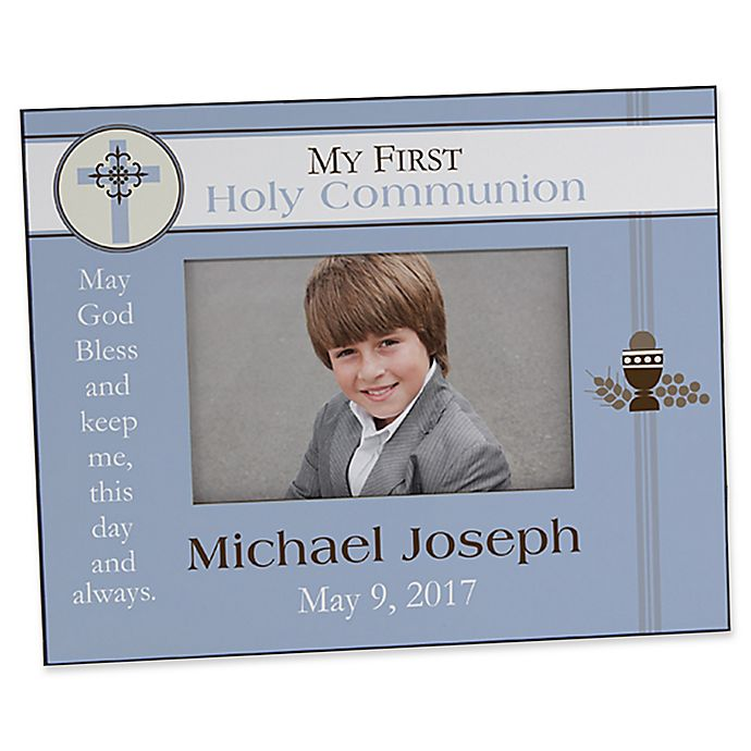 Alternate image 1 for A Boy's First Communion 4-Inch x 6-Inch Picture Frame