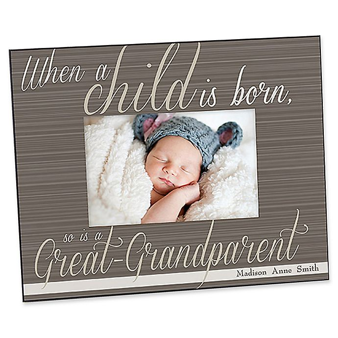 Alternate image 1 for A Great-Grandparent Is Born 4-Inch x 6-Inch Picture Frame