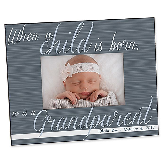 Alternate image 1 for A Grandparent Is Born 4-Inch x 6-Inch Picture Frame