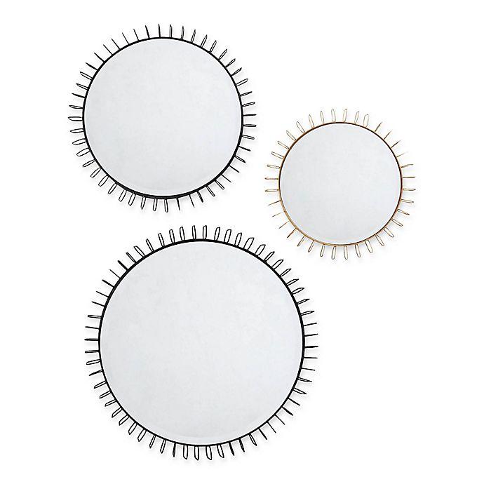 Alternate image 1 for Madison Park Cirque Iron Circle Mirror