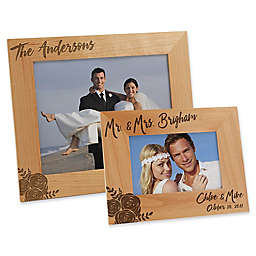 Modern Chic Wedding Engraved Picture Frame