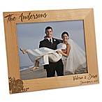 Modern Chic Wedding 8-Inch x 10-Inch Engraved Picture Frame