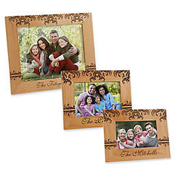 Damask Family Picture Frame