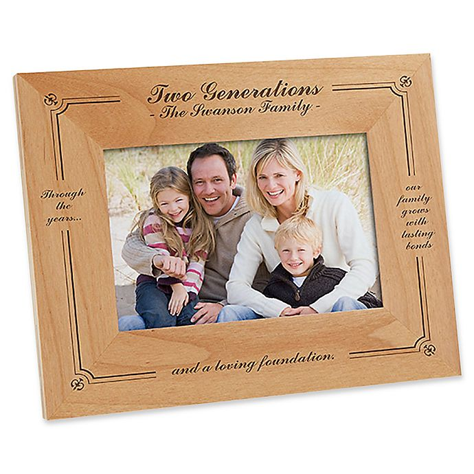 Alternate image 1 for Generations of Family 4-Inch x 6-Inch Picture Frame