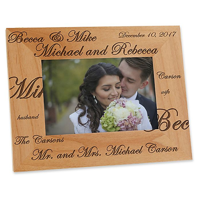Alternate image 1 for Mr. and Mrs. Collection 4-Inch x 6-Inch Picture Frame
