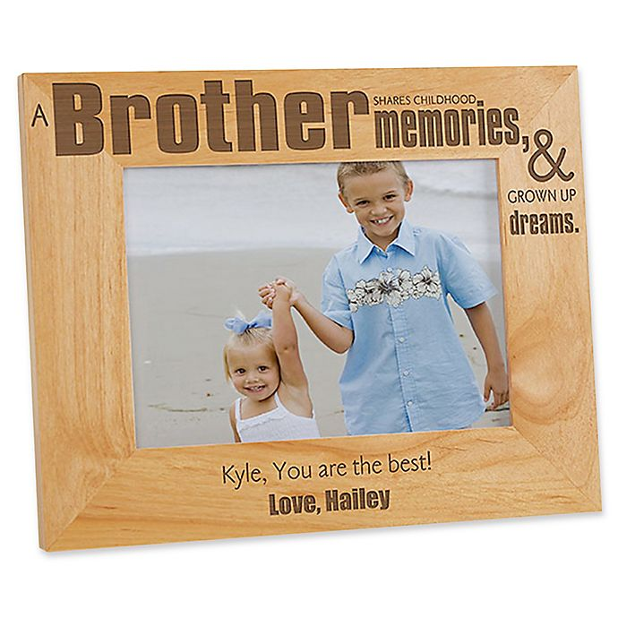Alternate image 1 for Special Brother 5-Inch x 7-Inch Picture Frame