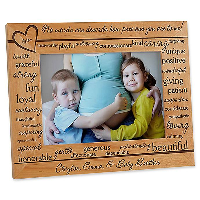 Alternate image 1 for Definition of Mom 5-Inch x 7-Inch Picture Frame
