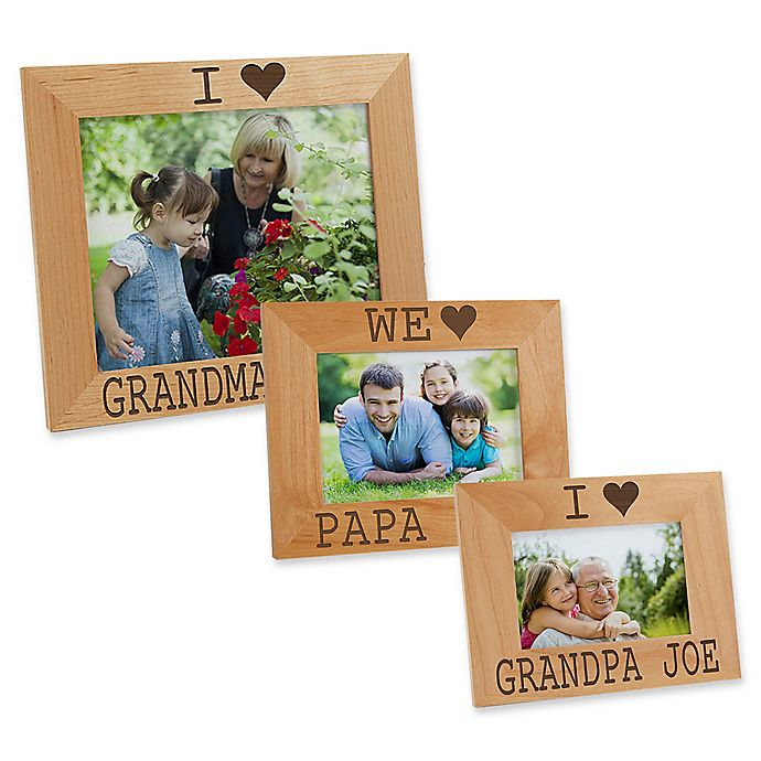 Alternate image 1 for I/We Love Him Picture Frame
