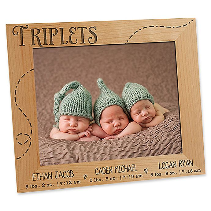 Alternate image 1 for Triplet Love 8-Inch x 10-Inch Picture Frame