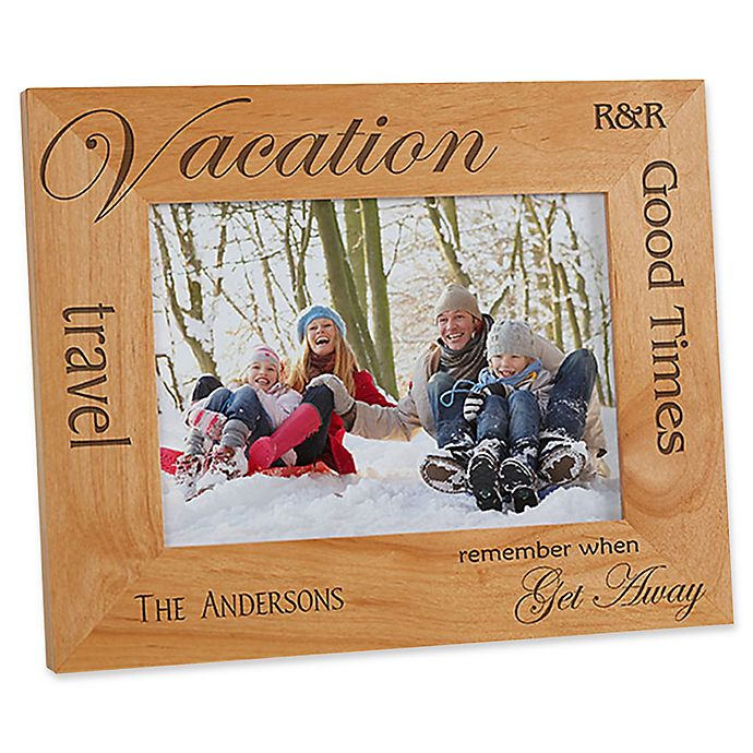 Alternate image 1 for Vacation Memories 5-Inch x 7-Inch Picture Frame