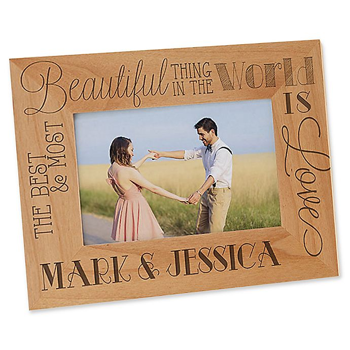 Alternate image 1 for Love Quotes 4-Inch x 6-Inch Picture Frame