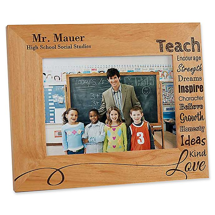Alternate image 1 for Our Teacher 5-Inch x 7-Inch Picture Frame