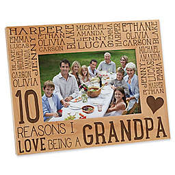 Reasons Why for Grandpa 4-Inch x 6-Inch Picture Frame