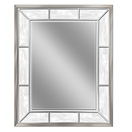 Brushed Nickel Alabaster Mirror
