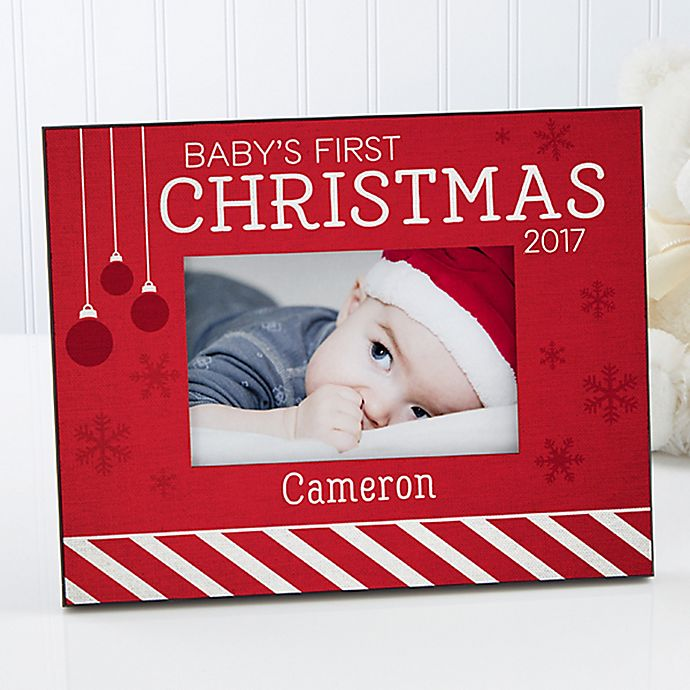 Baby's 1st Christmas 4-Inch x 6-Inch Picture Frame | Bed