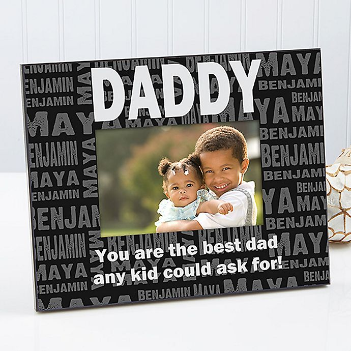 Alternate image 1 for Repeating Name For Him 4-Inch x 6-Inch Picture Frame