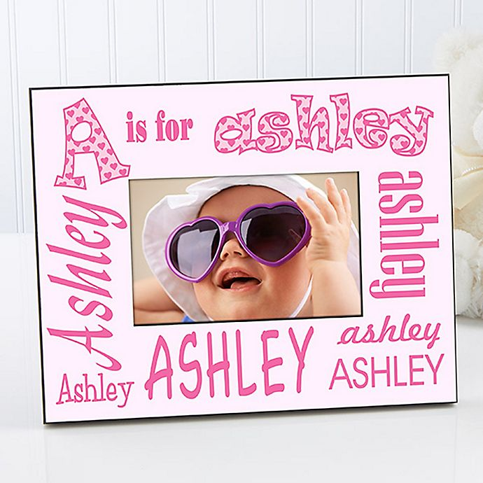 Alternate image 1 for It's Me! Alphabet Name 4-Inch x 6-Inch Picture Frame