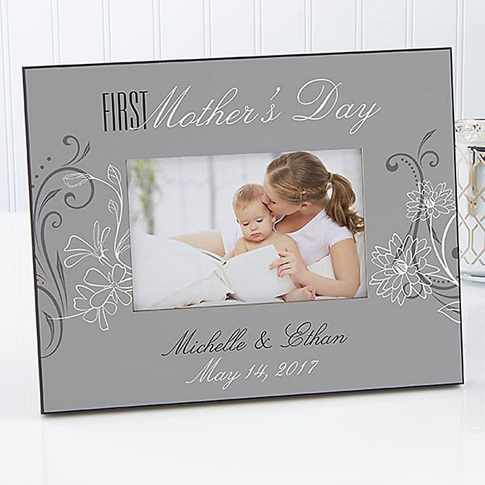 Alternate image 1 for Her First Mother's Day 4-Inch x 6-Inch Picture Frame