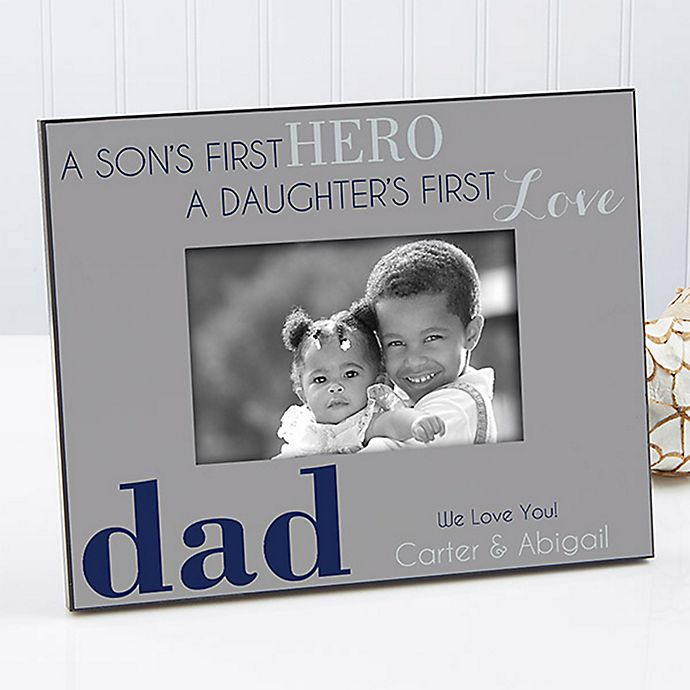 Alternate image 1 for First Hero/First Love 4-Inch x 6-Inch Picture Frame
