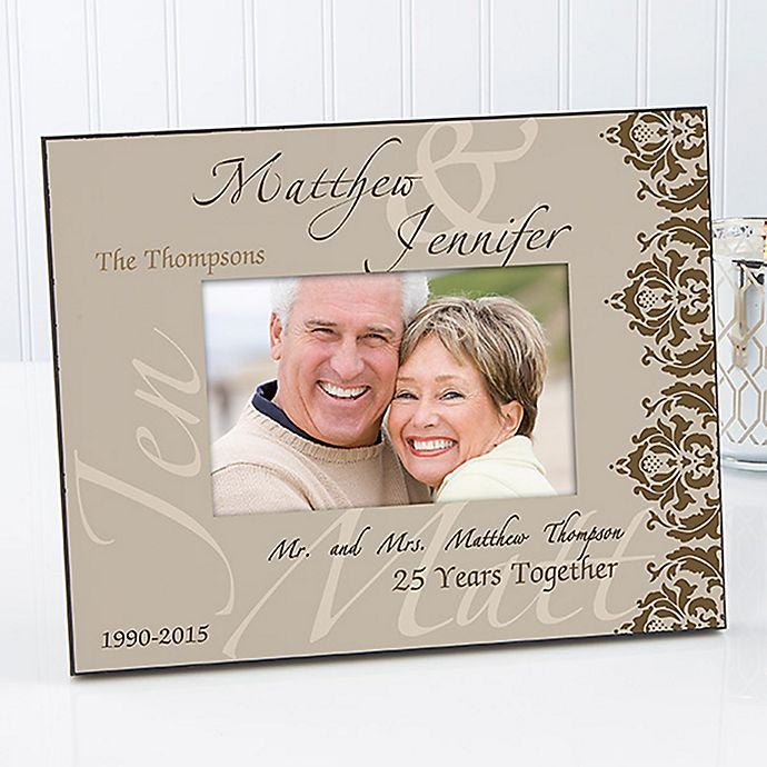 Alternate image 1 for The Anniversary Couple 4-Inch x 6-Inch Picture Frame