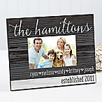 Family Love 4-Inch x 6-Inch Rustic Picture Frame