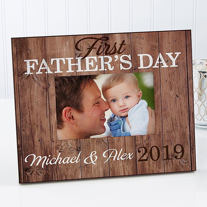 Alternate image 1 for First Father's Day 4-Inch x 6-Inch Picture Frame