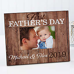 First Father's Day 4-Inch x 6-Inch Picture Frame