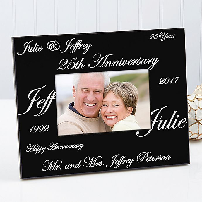 Alternate image 1 for Anniversary Wishes 4-Inch x 6-Inch Picture Frame