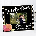 Modern Chic 4-Inch x 6-Inch Wedding Picture Frame