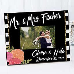 Modern Chic 4-Inch x 6-Inch Wedding Picture Frame