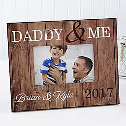 Daddy and Me 4-Inch x 6-Inch Rustic Picture Frame