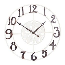 Household Essentials® Large Numbers Wall Clock in White/Black