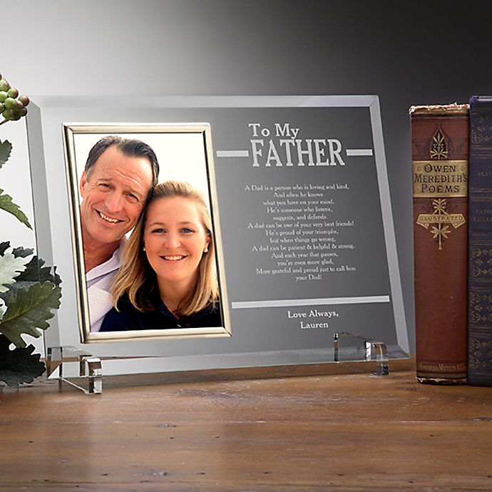 Alternate image 1 for To My Dad Engraved Picture Frame