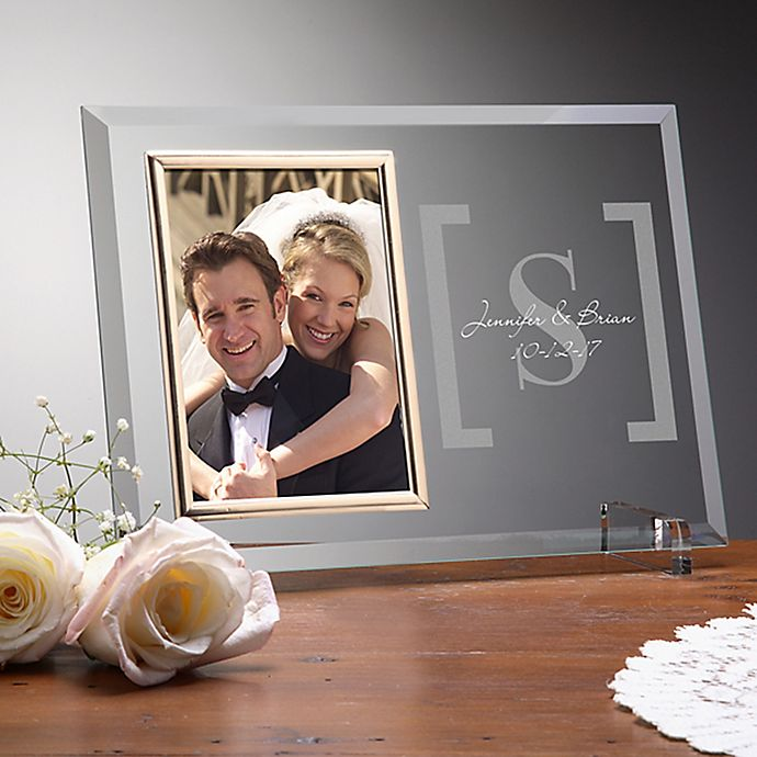 Alternate image 1 for Reflections of Love Wedding Picture Frame