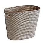 Biscayne Rattan Wastebasket